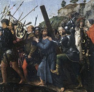 Картина Шествие на Голгофу. Художник Михель Ситтов (1469-1525).