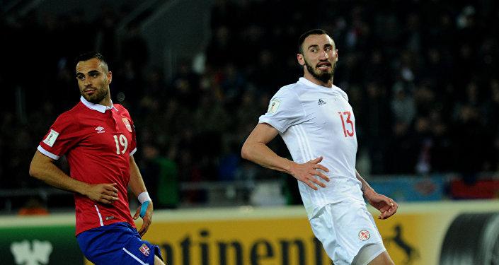 Матч между сборными Грузии и Сербии