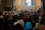 Илья II провел службу в день столетия автокефалии Грузинской церкви