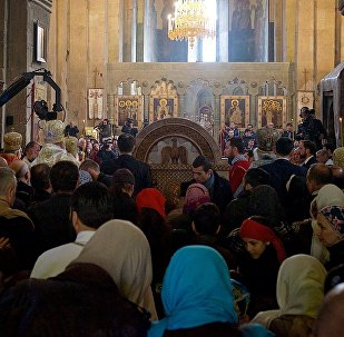 ილია მეორემ ქართული ეკლესიის ავტოკეფალიის 100 წლისთავისადმი მიძღვნილი წირვა აღასრულა
