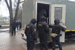 Задержание участников несанкционированной акции оппозиции в Минске