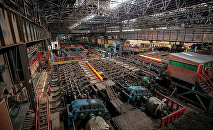 Прокатный стан на Руставском металлургическом заводе