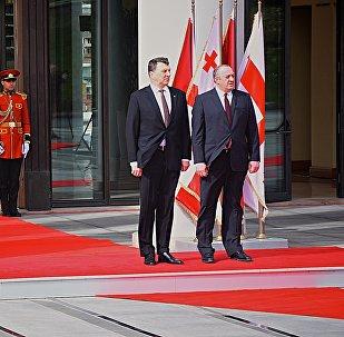 Президенты Грузии и Латвии