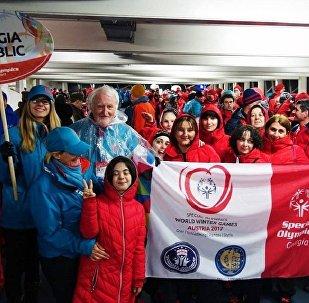 Дети с ограниченными возможностями из Грузии на Всемирной зимней специальной Олимпиаде