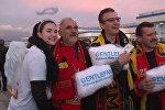 Как встретили футбольных фанатов из Бельгии в Сочи