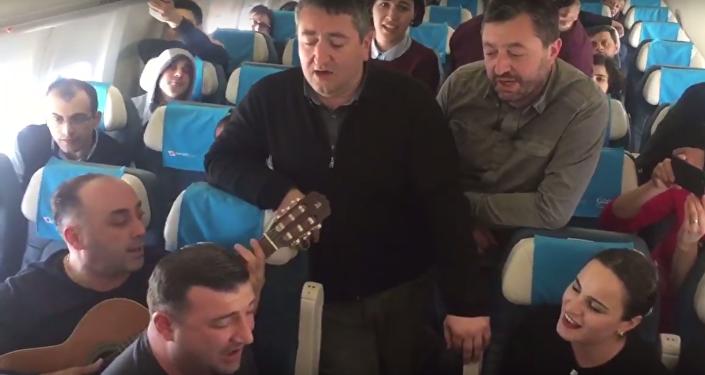 Грузинские песни в самолете