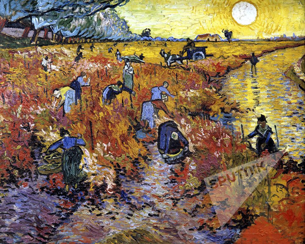 Художник Ван Гог. Картина Красные виноградники в Арле