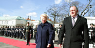 Лидер Литвы Даля Грибаускайте и президент Грузии Георгий Маргвелашвили