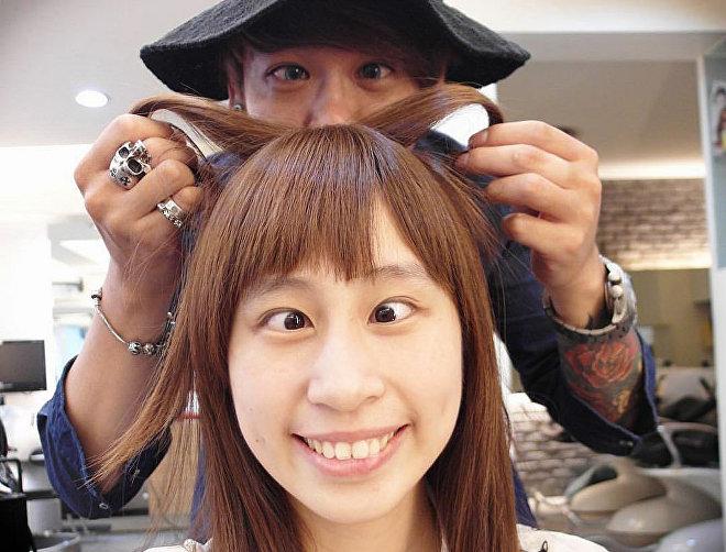 Смешная укладка волос