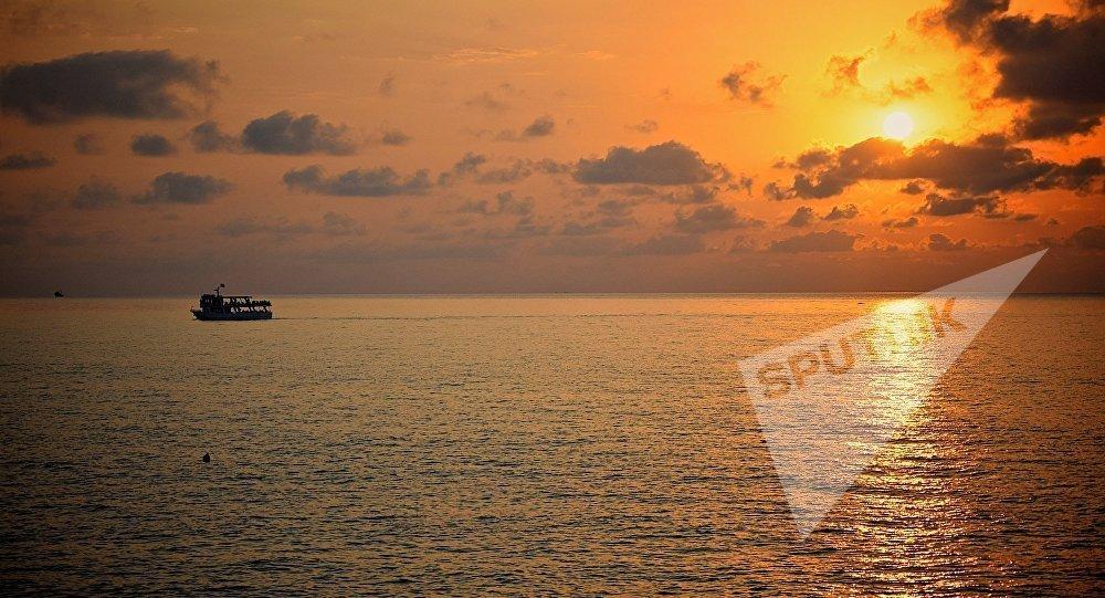 მზის ჩასვლა შავ ზღვაზე - აჭარის სანაპირო