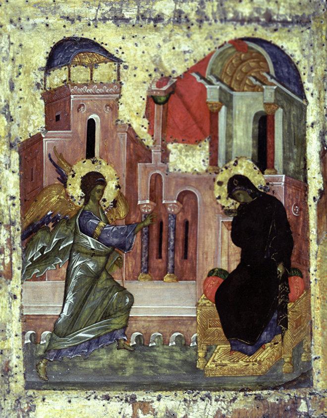 Икона Благовещение конца XVI века