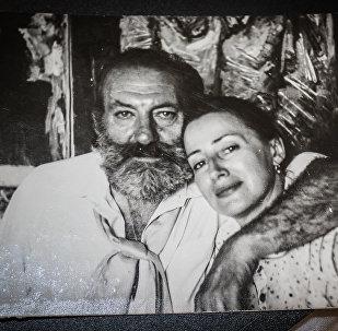 Художник Лев Баяхчев с супругой Еленой