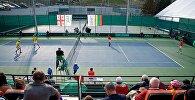 Парная встреча сборных Грузии и Литвы по теннису в рамках Кубка Дэвиса