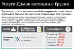 Услуги Домов Юстиции в Грузии