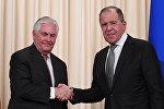 Госсекретарь США Рекс Тиллерсон и министра иностранных дел РФ Сергей Лавров