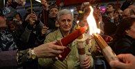 LIVE: Трансляция встречи Благодатного огня в Москве