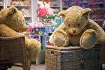 Игрушечные медведи в одном из магазинов в торговом центре грузинской столицы