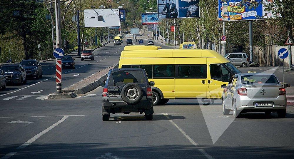 Вид на одну из улиц Тбилиси