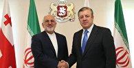 Министр иностранных дел Ирана Мохаммад Джавад Зариф и премьер Грузии Георгий Квирикашвили