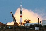 LIVE: Трансляция запуска экипажа МКС с космодрома Байконур