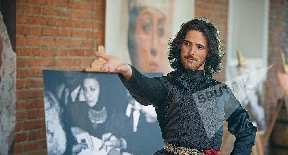 Перформанс в честь Софико Чиаурели на открытии Тбилисской Недели моды