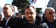Депутаты парламента Грузии Гига Бокерия и Отар Кахидзе на акции