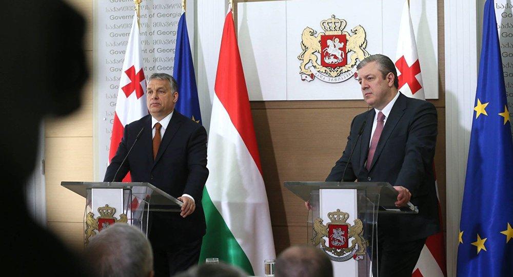 Премьеры Грузии и Венгрии Георгий Квирикашвили и Виктор Орбан
