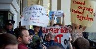 Премьер-министра Венгрии Орбана в Тбилиси встретили акциями протеста