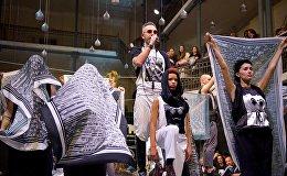 Модельер Кахабер представляет свое шоу на Тбилисской Неделе моды