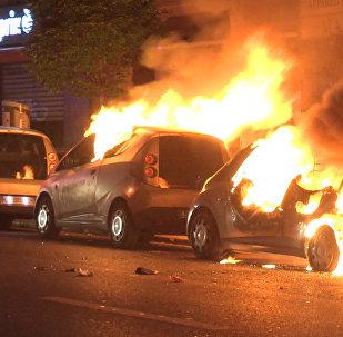 Погромы в Париже после первого тура выборов