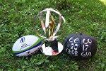 Кубок чемпионата мира по регби U-20, лелобурти и регбийный мяч