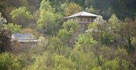 Дом в горах среди деревьев в регионе Имерети Западная Грузия