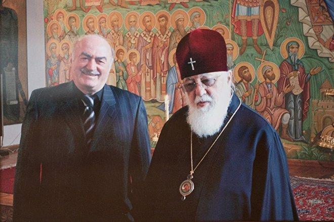 Джемал Чкуасели и Католикос-Патриарх всея Грузии Илия Второй