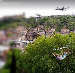 Полет на дроне над Грузией