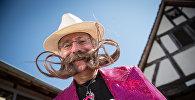 Участник конкурса бород и усов во Франции