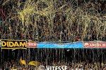Болельщики клуба Витесс празднуют успех команды