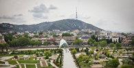 Вид на парк Рике, старый Тбилиси и Мост Мира