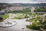 Вид на парк Рике и старый Тбилиси