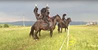 Грузинские танцы на лошадях