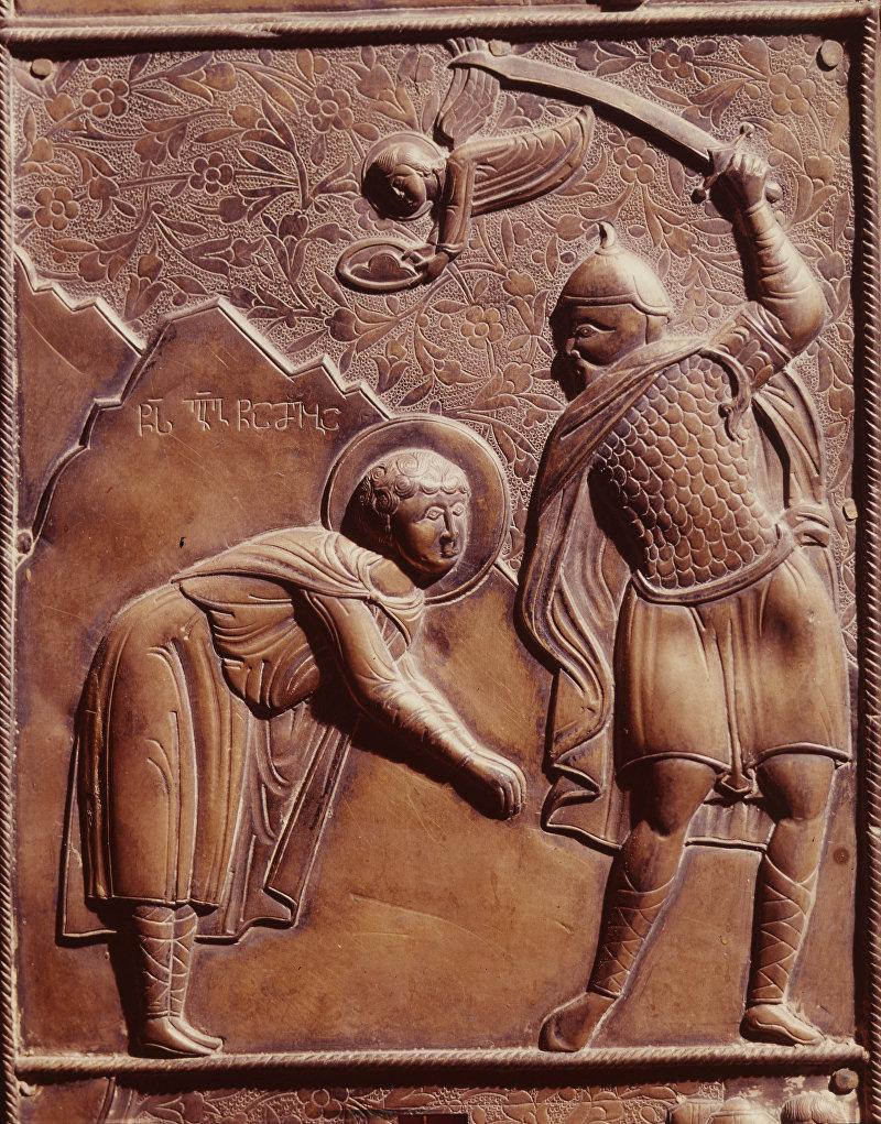 Сцена усечения головы святого Георгия