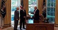 Премьер-министр Грузии встретился в Дональдом Трампом и Майком Пенсом