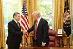 Премьер Грузии Георгий Квирикашвили и президент США Дональд Трамп