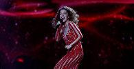 Тамара Гачечиладзе из Грузии во время полуфинала конкурса «Евровидение-2017» 1 в Киеве, Украина