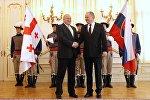 Президент Грузии Георгий Маргвелашвили во время визита в Словакию