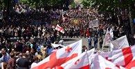 Многотысячное шествие по проспекту Руставели в День святости семьи 17 мая