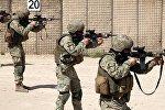 Грузинские военные в Афганистане на учениях