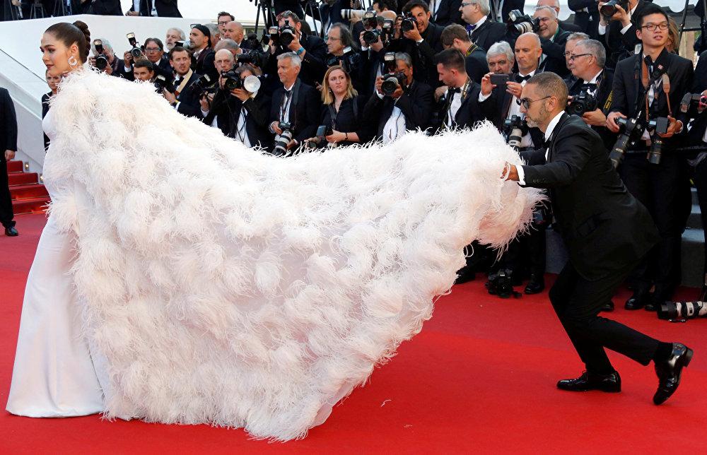 Многие звезды кино и шоу-бизнеса пришли на открытие Каннского кинофестиваля в самых сногсшибательных нарядах, чтобы поразить своим видом публику