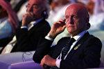 Главный судья УЕФА Пьерлуиджи Коллина на открытии 9-й Международной спортивной конференции в Дубае