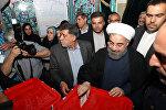 Президент Ирана Хассан Роухани участвует в выборах