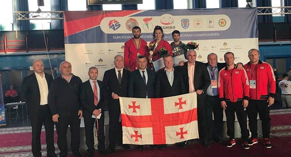 Магомедов— чемпион Европы побоевому самбо ввесе до57кг